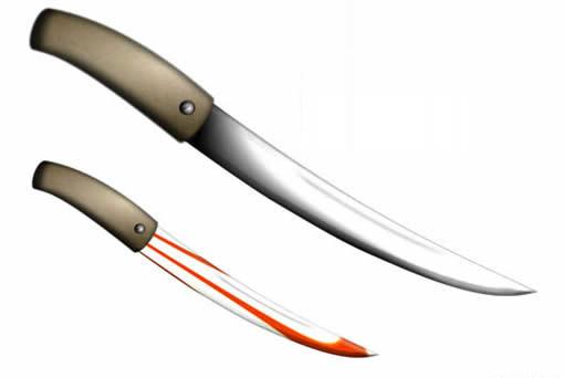 Fireworks快速制作帶血的金屬刀具